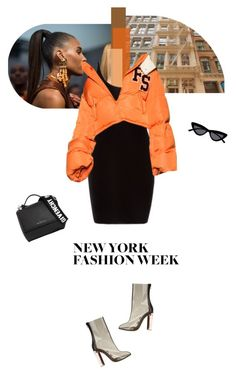 """I'm established hundred carats on my name"" by sunshineb ❤ liked on Polyvore featuring Yeezy by Kanye West, Le Specs, Givenchy, NYFW, outfit, fashionWeek, fw and newyorkfashionweek"