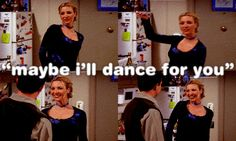 "when Phoebe tries to ""seduce"" Chandler haha"