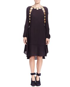 Long-Sleeve Medallion Dress by Chloe at Neiman Marcus.