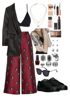 """Ouffit #563"" by antoalvear ❤ liked on Polyvore featuring Michael Kors, Osman, MM6 Maison Margiela, adidas, New Look, LULUS, Mulberry, Accessorize, Lipstick Queen and Perricone MD"