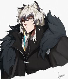 Silver Ash, Neko Boy, Animal Ears, Anime Fantasy, Snow Leopard, Character Drawing, Character Inspiration, Art Reference, Anime Characters