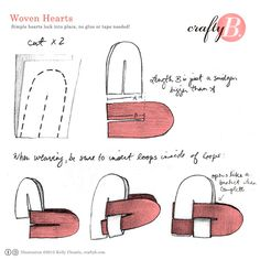 valentine-web  woven heart tutorial  craft paper/cardstock/construction paper