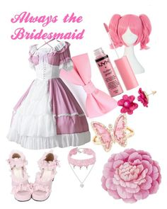 """Little Lolita Bridesmaid"" by imortalsnail on Polyvore featuring Design Lab, Charlotte Russe, Luna Skye and Ballard Designs"