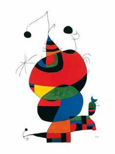 Joan Miró - Hommage a Picasso - Kunstdruck. An Picasso kommt halt keiner vorbei.