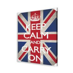 Ace Framing Keep Calm and Carry On Canvas