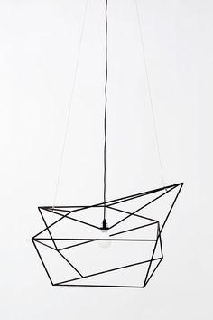 minimalist geometric light fixture | i love this...DIY project? | LARGE SPICA