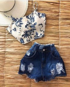 Pin by joissy shantall on ropa in 2019 Teenage Outfits, Teen Fashion Outfits, Hot Outfits, Cute Casual Outfits, Cute Summer Outfits, Outfits For Teens, Stylish Outfits, Girl Outfits, Edgy Teen Fashion