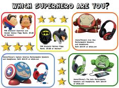 Which Superhero Are You? Superhero-inspired sound and decor items from iHome/Disney and FAB Starpoint!