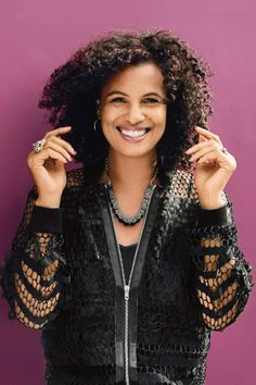 January 2014 Neneh Cherry wore a Jean Paul Gaultier jacket to be photographed by Jamie Morgan for the January 2014 issue of Vogue. Photo By Jamie Morgan