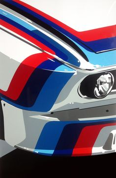 BMW M car. Hand-cut vinyl art. Prints & original available at www.joelclarkartist.carbonmade.com