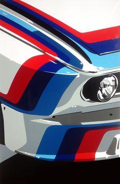 BMW M car. Hand-cut vinyl art. Prints & original available at www.joelclarkartist.carbonmade.com