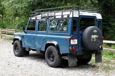 Land Rover Defender 110.  Love the color, but thinking two tone with a tan upper.  40th Birthday???