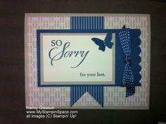 So Sorry - Blue by ngleason - Cards and Paper Crafts at Splitcoaststampers