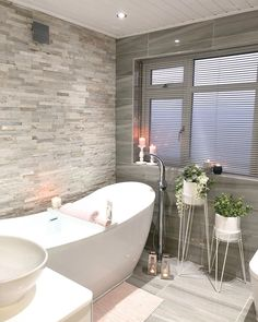 """LYNDSEY on Instagram: """"🥰Absolute bliss 🥰 hubby & kids out for the night, so this is where you'll find me 🛁  My last post went mental, honestly it blows my mind…"""" Tough Day, Beautiful Bathrooms, Clawfoot Bathtub, The Hamptons, Bliss, Night, Instagram, Pinterest Board, Homes"""