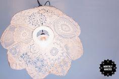 Återbrukad lampa av spets av Elsa Lisa Larson Elsa, Diy, Inspiration, Design, Creative, Biblical Inspiration, Bricolage, Handyman Projects, Do It Yourself