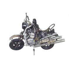 Metal Motorcycle Art- Recycled Parts