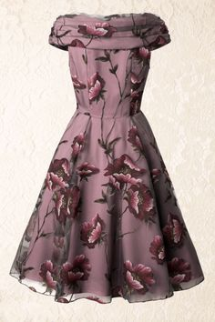 Collectif Clothing Dorothy Tule Floral Dress 102 29 14391 20140616 0011W