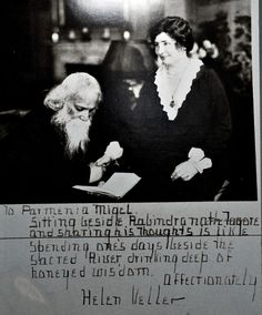 Tagore with Helen Keller
