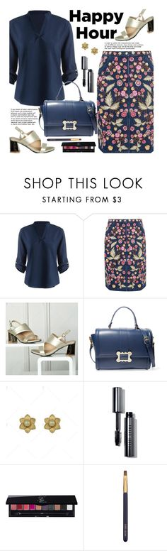 """Bottoms Up: Happy Hour"" by beebeely-look ❤ liked on Polyvore featuring Needle & Thread, Vivienne Westwood Anglomania, Bobbi Brown Cosmetics, Yves Saint Laurent, Estée Lauder, streetwear, happyhour, embroideredjeans and twinkledeals"