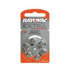 Rayovac Extra Advanced Size 13 (60 Pack) Hearing Aids, Packing, Drum Kit, Bag Packaging