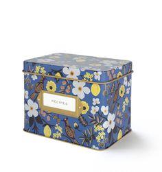 Capri Recipe Box & Cards $34