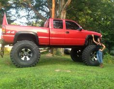 This is Huge Chevy Silverado Z71 21inchs of lift 20x12 wheels 54x16 inch tires, it's MONSTER! truck lol. for sale $12,800