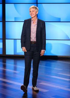 Ellen's Look of the Day: Seize sur Vingt shirt, J.Crew belt, Sartore saddle shoes