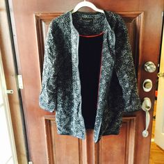 Sanctuary Coat Grey and black sanctuary coat. Great piece for the winter, never been worn. Sanctuary Jackets & Coats