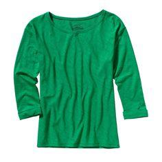 Patagonia Women\'s Necessity 3/4-Sleeved Shirt - Tumble Green TMBG