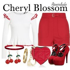 Designer Clothes, Shoes & Bags for Women Riverdale Set, Riverdale Cheryl, Bad Girl Outfits, Girly Outfits, Riverdale Fashion, Estilo Disney, Cheryl Blossom, Disney Outfits, Shoping Cart