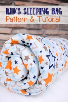 Best Sewing Projects to Make For Boys - Kid's Sleeping Bag - Creative Sewing Tutorials for Baby Kids and Teens - Free Patterns and Step by Step Tutorials for Jackets, Jeans, Shirts, Pants, Hats, Backpacks and Bags - Easy DIY Projects and Quick Crafts Ideas http://diyjoy.com/cute-sewing-projects-for-boys