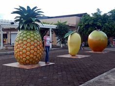 Fruit sculptures that can be seen in Gingoog City, Philippines