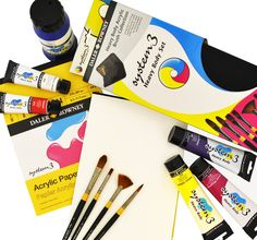 System 3 can support you from Acrylics to Brushes to Paper!