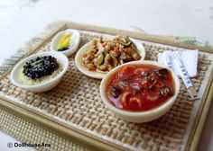 Chinese food Oriental delicious Meal set handmade by DollhouseAra