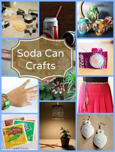 11 Soda Can Crafts - Craft TeenCraft Teen Pop Can Crafts, New Crafts, Cute Crafts, Diy For Teens, Crafts For Teens, Projects For Kids, Craft Projects, Aluminum Can Crafts, Aluminum Recycling