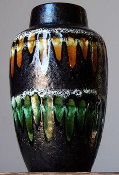 Vintage 1960-70 s SCHEURICH 549/21 Vase West German Pottery Art Fat Lava Era