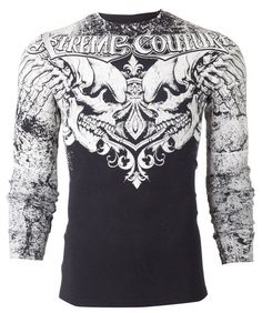 Xtreme Couture AFFLICTION Men THERMAL T-Shirt LEGENDARY Tattoo Biker M-3XL $58 #Affliction #GraphicTee