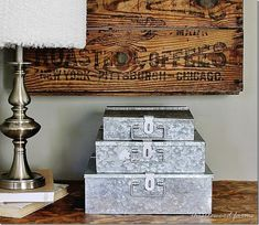 Stackable Galvanized Metal File Bo And A Giveaway Add Touch Of Charm