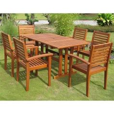 Shop for International Caravan Royal Tahiti Badalona 7-Piece Outdoor Dining Set. Get free delivery at Overstock.com - Your Online Garden & Patio Shop! Get 5% in rewards with Club O! - 14648243