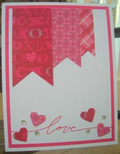 CAS Valentine by calmag - Cards and Paper Crafts at Splitcoaststampers