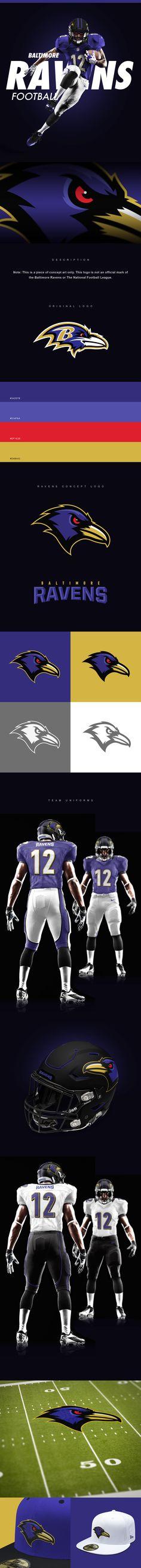 Baltimore Ravens Rebrand Concept on Behance