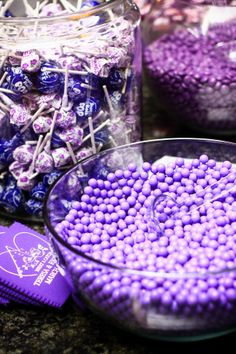 Purple Sixlets + Grape Dum Dums + Grape Tootsie Pops = Purplicious Celebration!