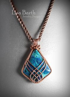If you'd like to learn how to do this criss cross wire wrap, here is the link: https://www.etsy.com/listing/156274277/criss-cross-pendant-tutorial?ref=shop_home_active_5 Lisa Barth