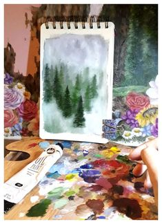 Forest Painting, Art Challenge, 100th Day, Fine Art, Create, Instagram, Forest Pictures, Forest Drawing, Visual Arts