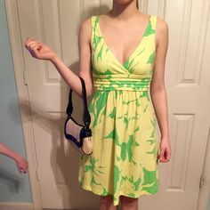 American Eagle  Lime Green Dress