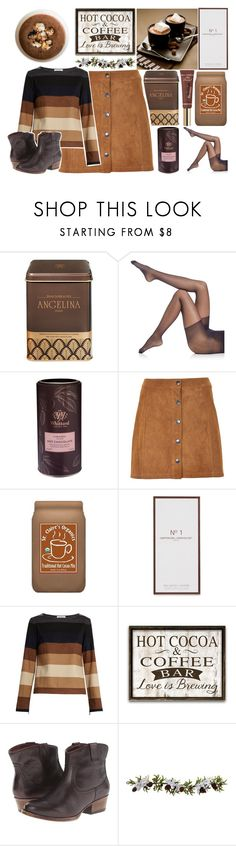 """""""hot cocoa kind of day"""" by jeesxx ❤ liked on Polyvore featuring ANGELINA, Falke, Soaked in Luxury, claire's, Artisan Du Chocolat, MaxMara, Kenneth Cole Reaction, Nearly Natural and Too Faced Cosmetics"""