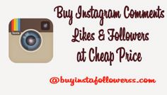 Buy Instagram Followers and Likes at the right place! Our company can provide you safe service of only real and active followers at really cheap prices. http://www.buyinstafollowerss.com/