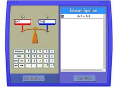 Pan Balance: Use this tool to strengthen understanding and computation of numerical expressions and equality. Sixth Grade Math, Second Grade Math, Grade 2, Math Resources, Math Activities, Math Games, Numerical Expression, Properties Of Addition, Math Expressions