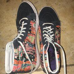 2d508ab7bb8 Vans Shoes | Rare Vans Sk8-Hi Old Skool | Color: Blue/Orange | Size: 7.5