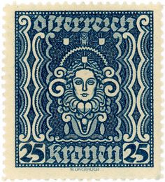 Austria postage stamp: art by karen horton, via Flickr